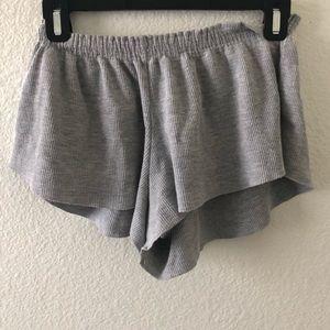 Grey Flowy Brandy Melville Shorts